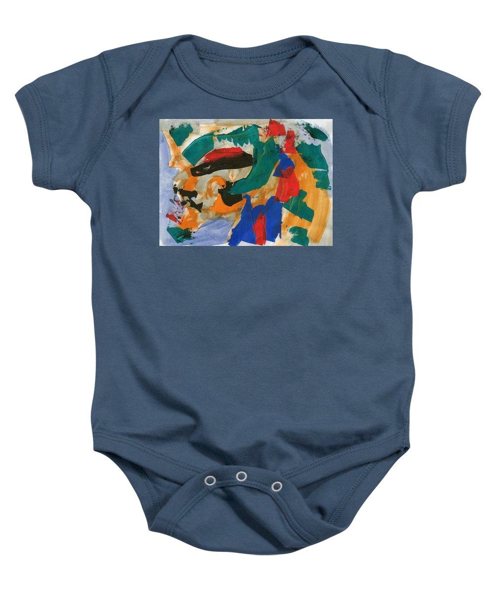 00003_c_12aj2kmfv50003 Baby Onesie featuring the painting Dark Feelings by Taylor Webb