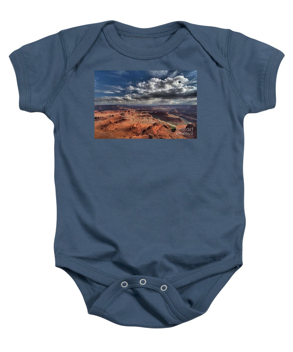 Dead Horse Point Baby Onesie featuring the photograph Endless Canyons by Adam Jewell