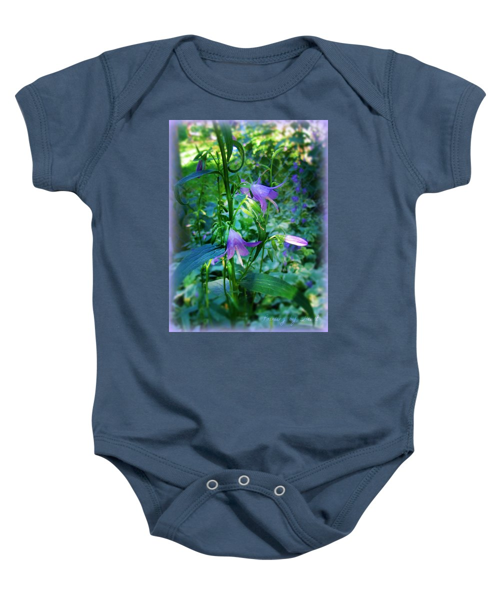 Flowers Baby Onesie featuring the photograph Fairy Hats by Deahn   Benware