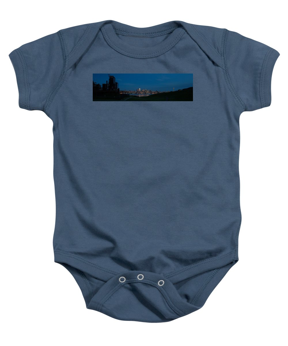 Seattle Baby Onesie featuring the photograph Gasworks Seattle Citiscape by Mike Reid