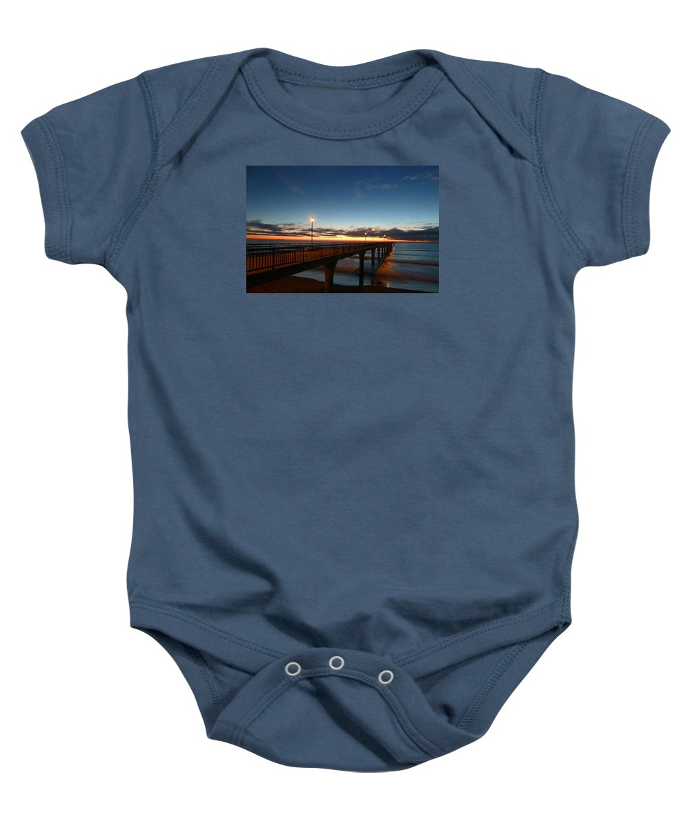 Brighton Baby Onesie featuring the photograph Glow On The Horizon by Steve Taylor