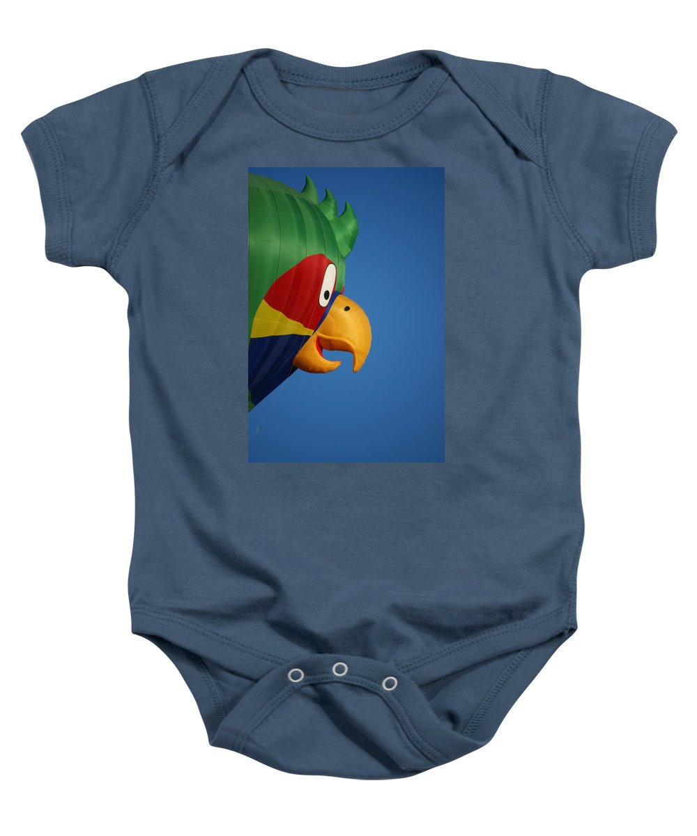 Balloons Baby Onesie featuring the photograph Hot Air Balloon 2 by Ernie Echols