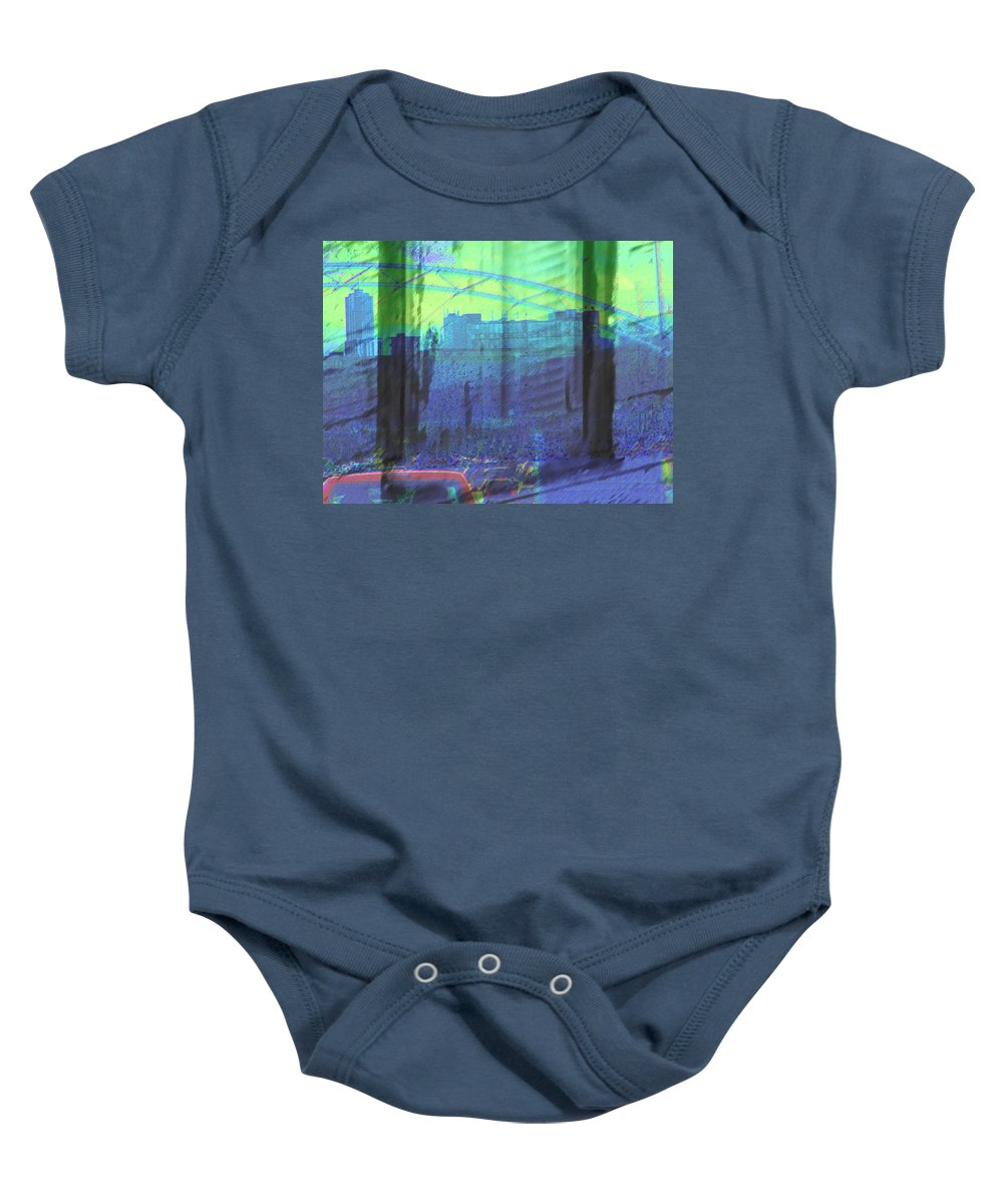 Abstract Baby Onesie featuring the photograph Leaving The Country For The City by Lenore Senior