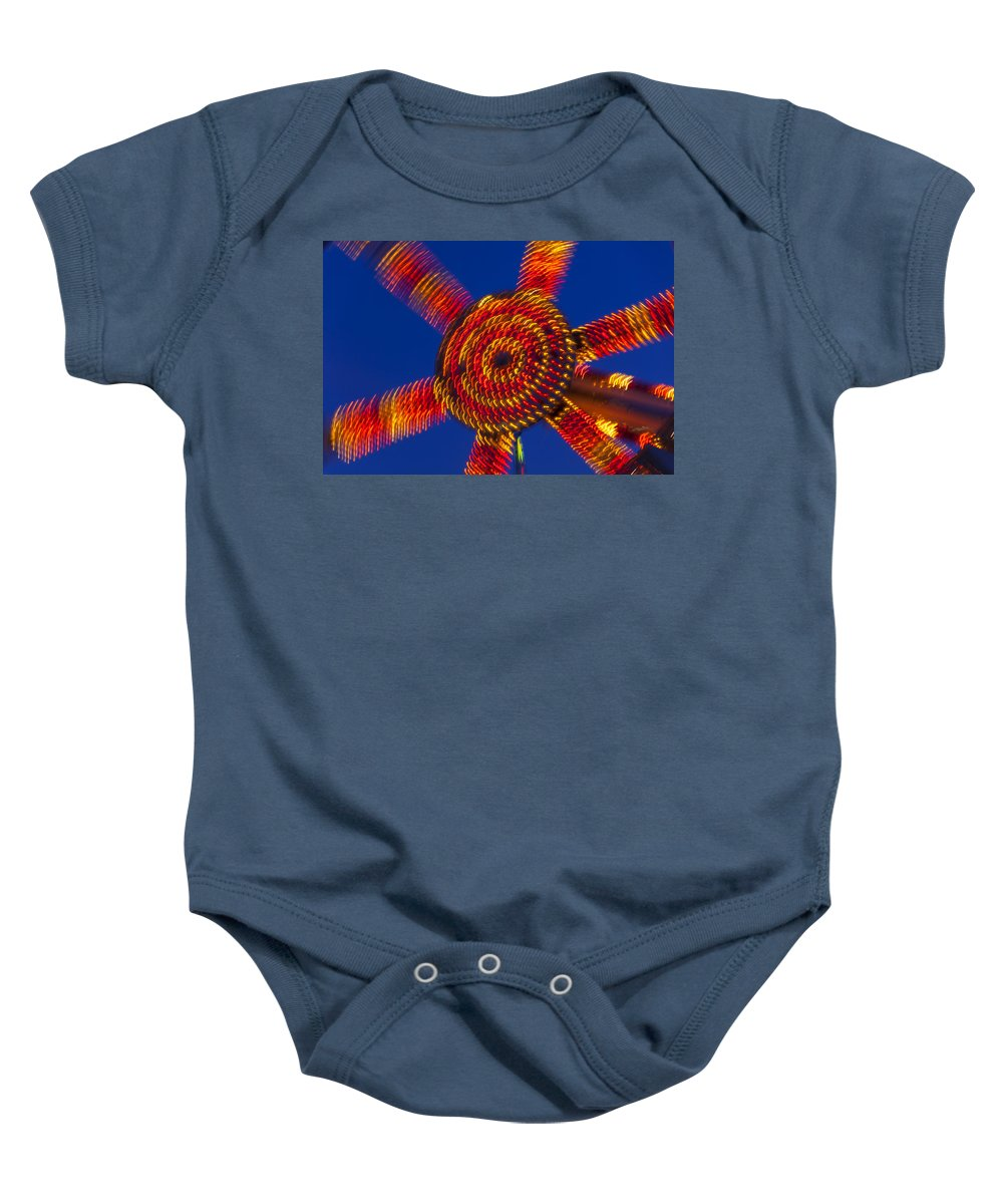 Carnival Baby Onesie featuring the photograph Light Dance by Garry Gay