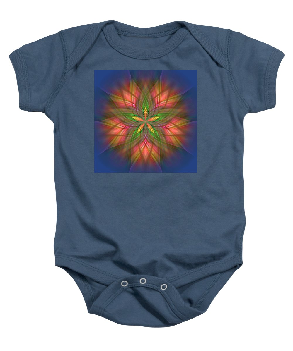 Ornament Baby Onesie featuring the digital art Ornament by Mark Greenberg