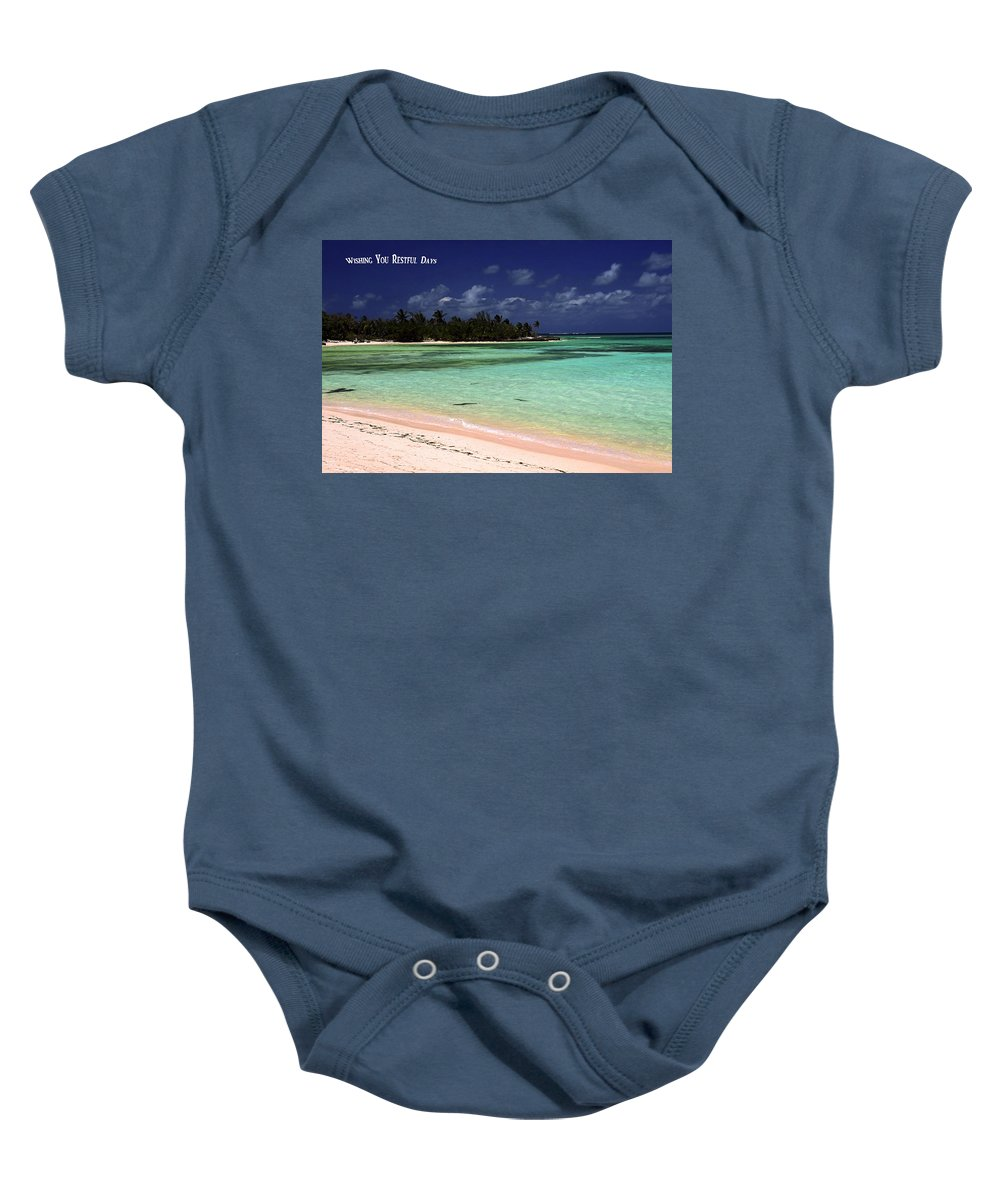 Aqua Water Baby Onesie featuring the photograph Restful Days by Sally Weigand