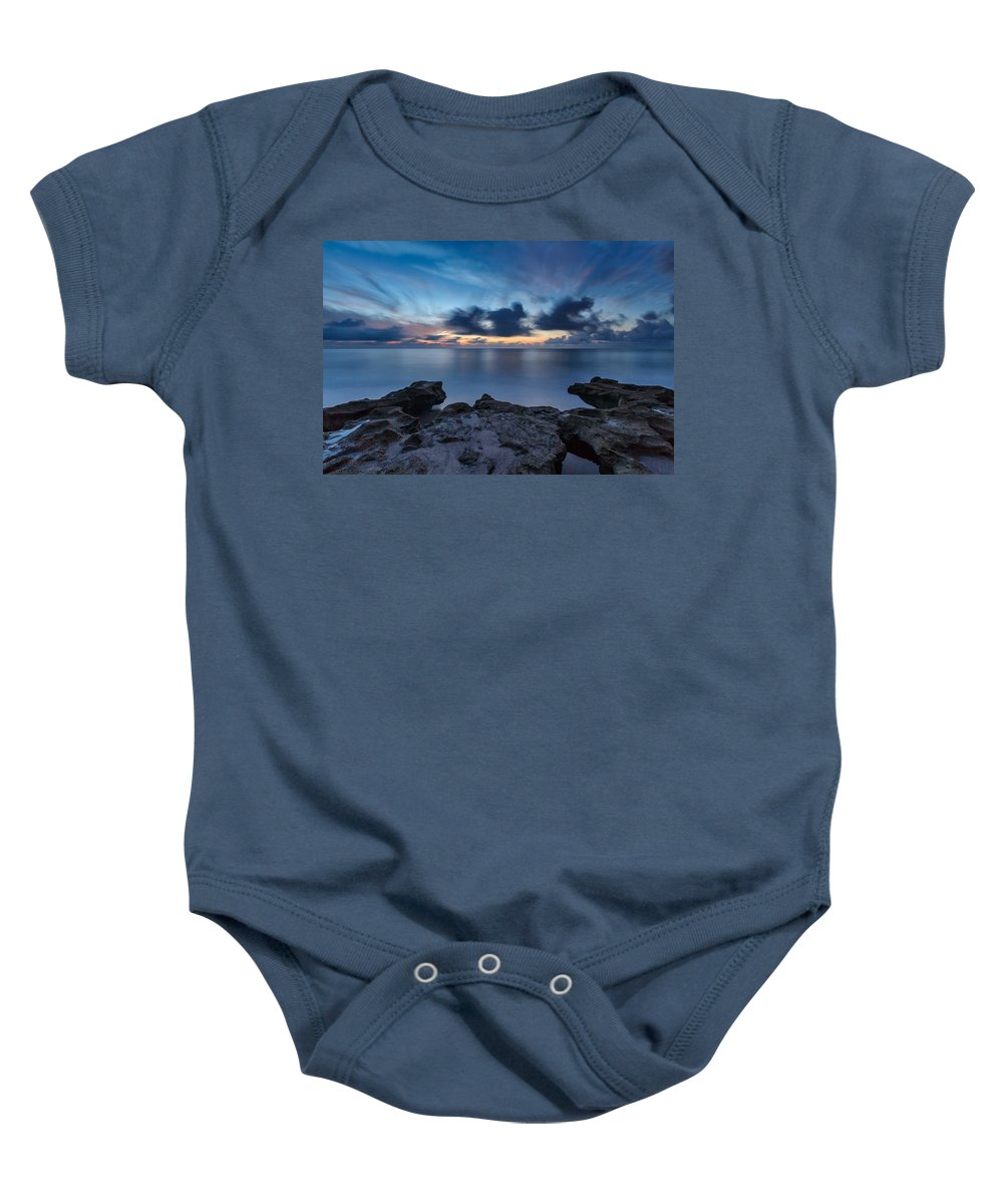 Usa Baby Onesie featuring the photograph Slow Motion by Claudia Domenig