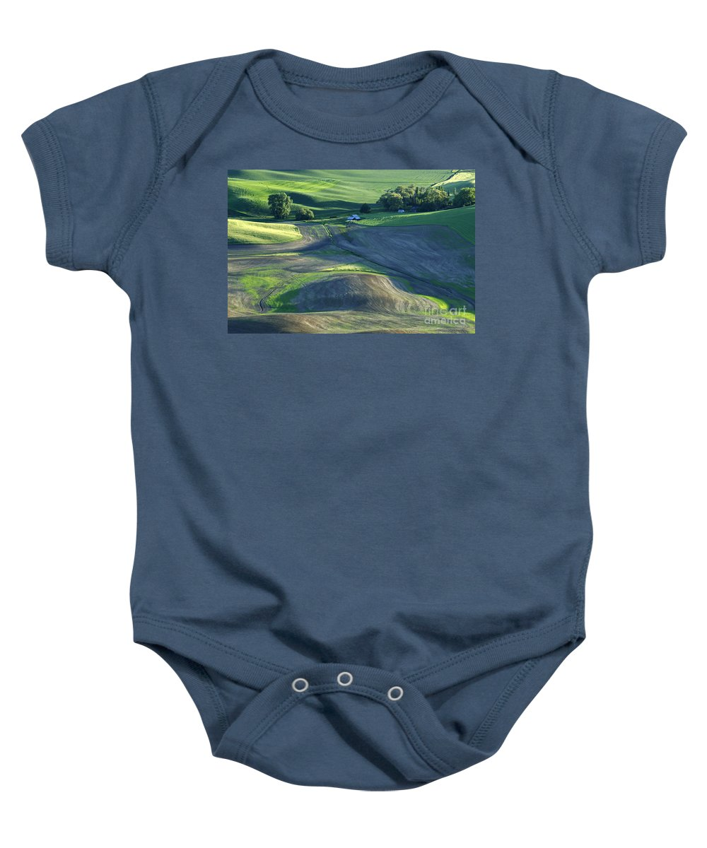 Palouse Baby Onesie featuring the photograph The Palouse 3 by Bob Christopher
