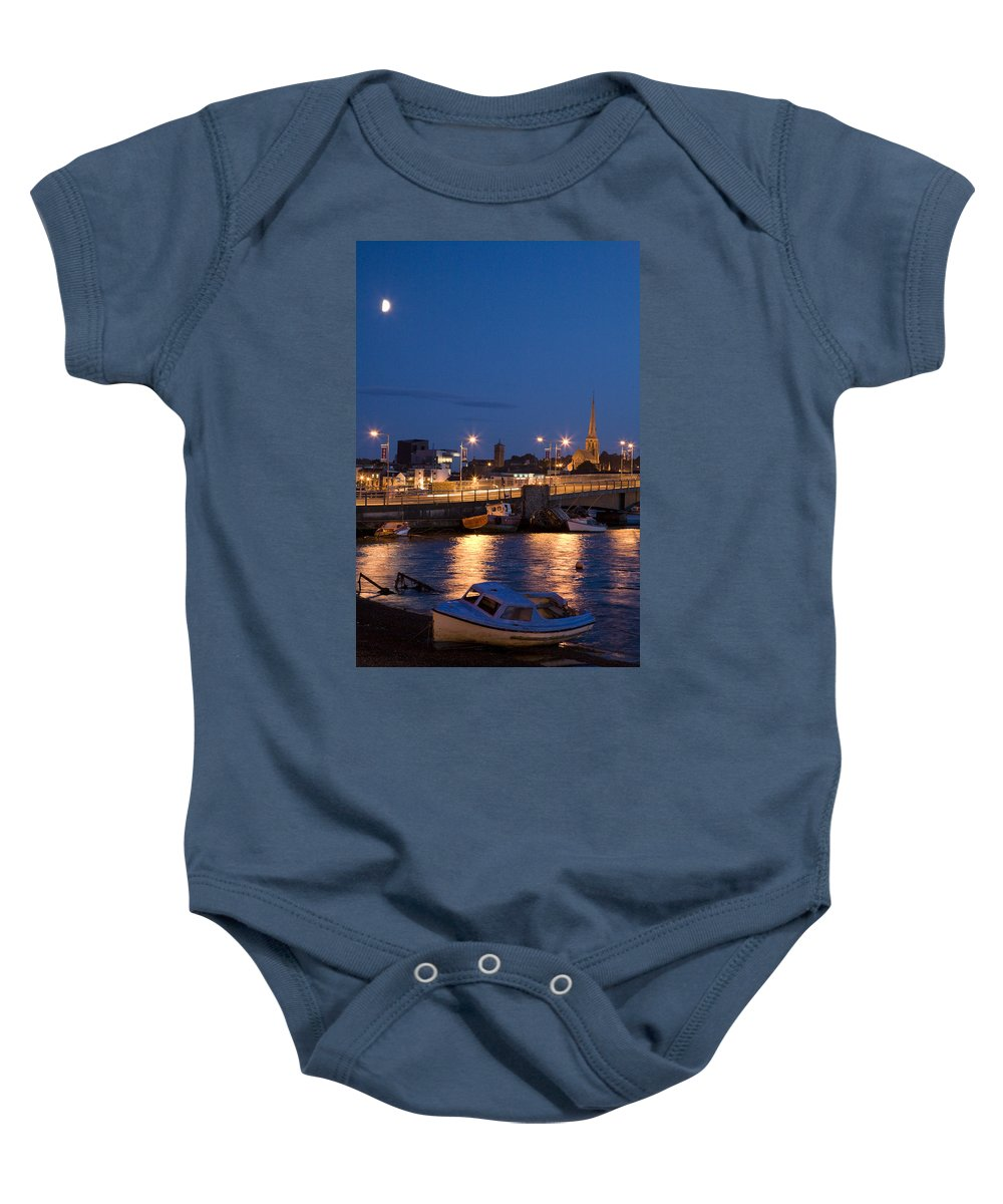 Eire Baby Onesie featuring the photograph Wexford Harbour At Dusk by Ian Middleton