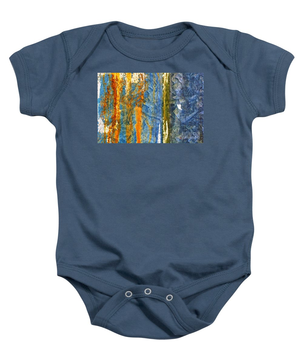 Rust Baby Onesie featuring the photograph Yellow River by Silvia Ganora