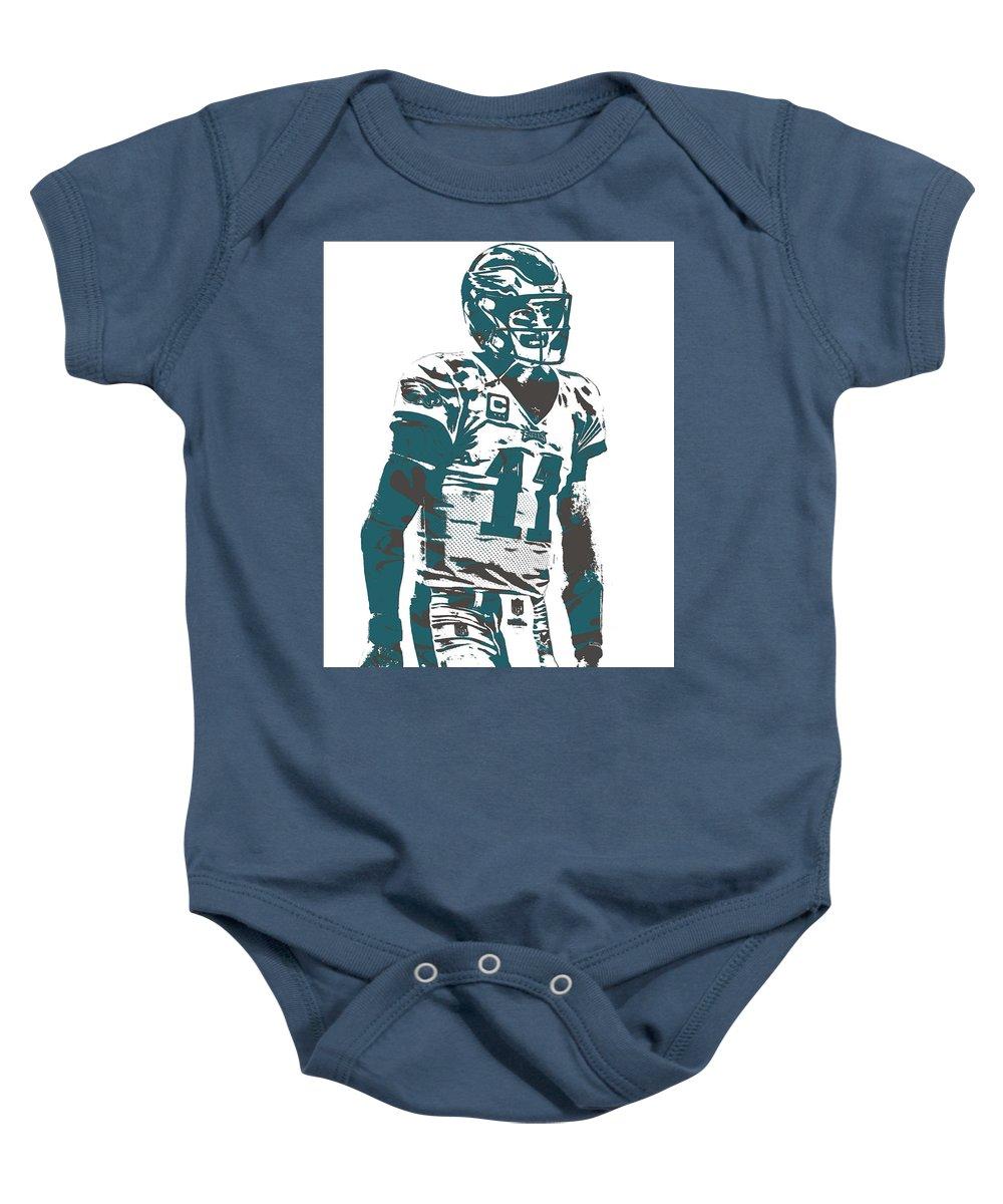 723bf10b Carson Wentz Philadelphia Eagles Pixel Art 6 Baby Onesie