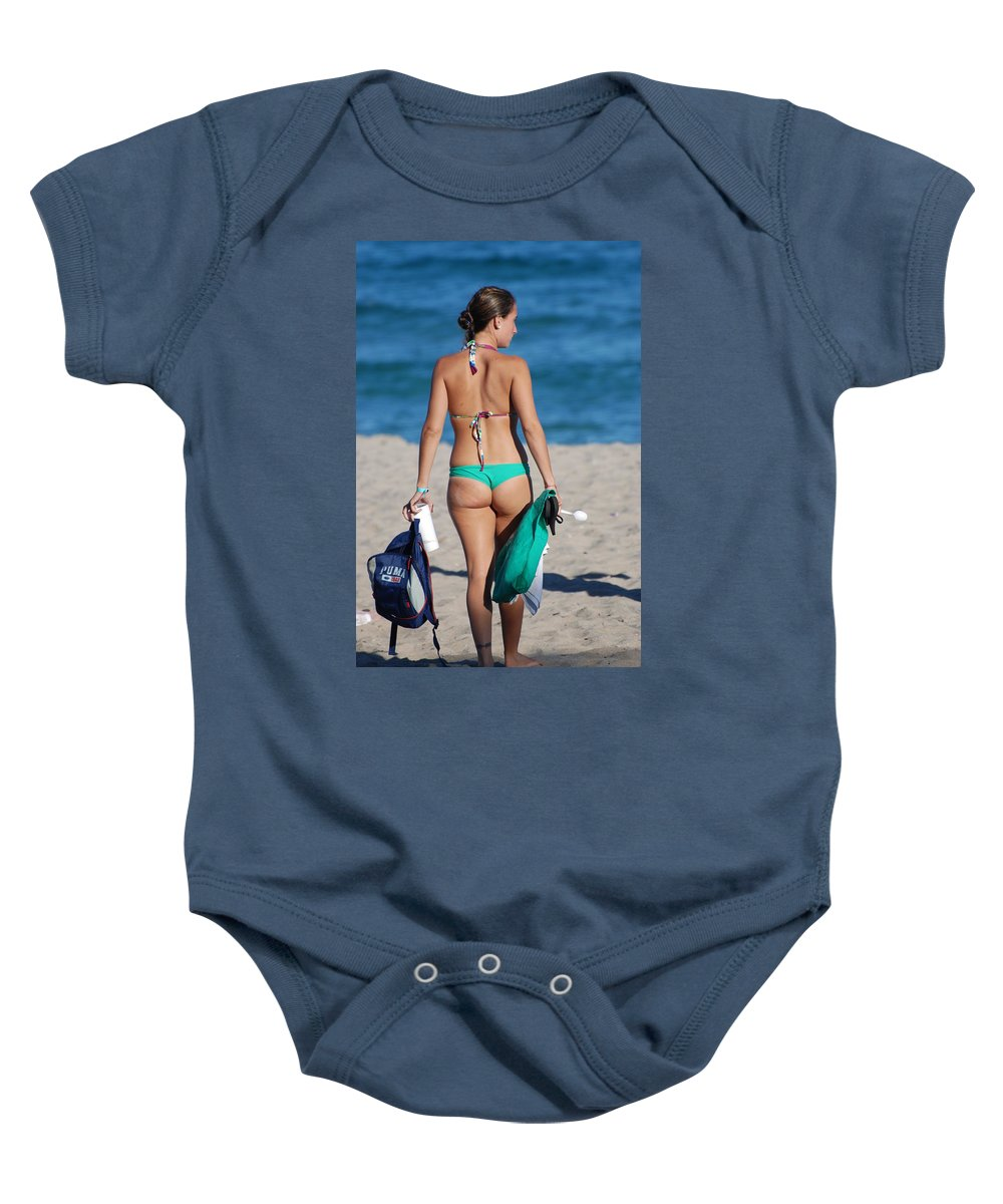 Girl Baby Onesie featuring the photograph Domino by Rob Hans