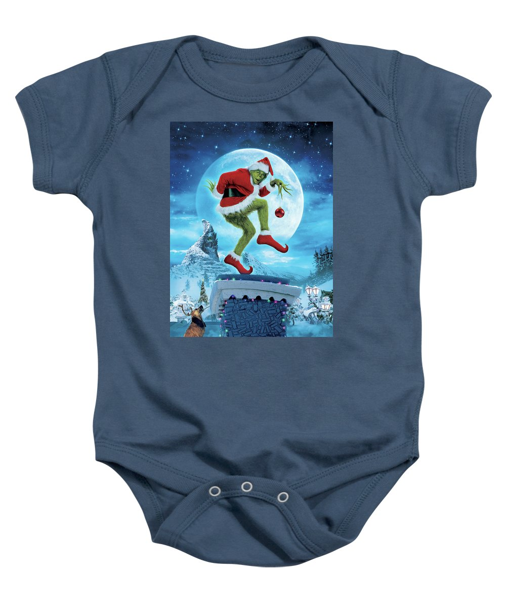 Baby Onesie featuring the digital art How The Grinch Stole Christmas 2000 by Geek N Rock