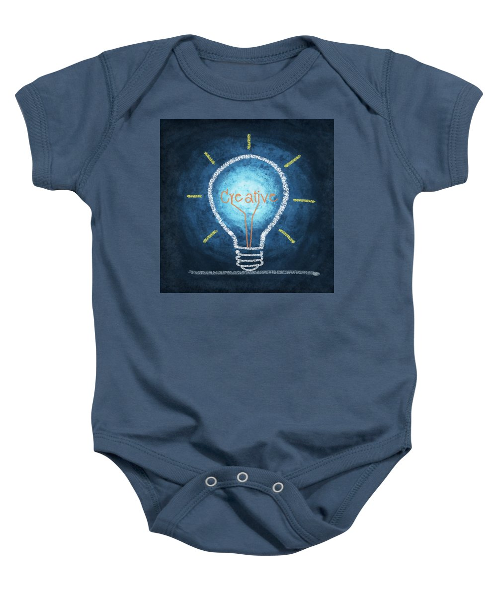 Art Baby Onesie featuring the photograph Light Bulb Design by Setsiri Silapasuwanchai