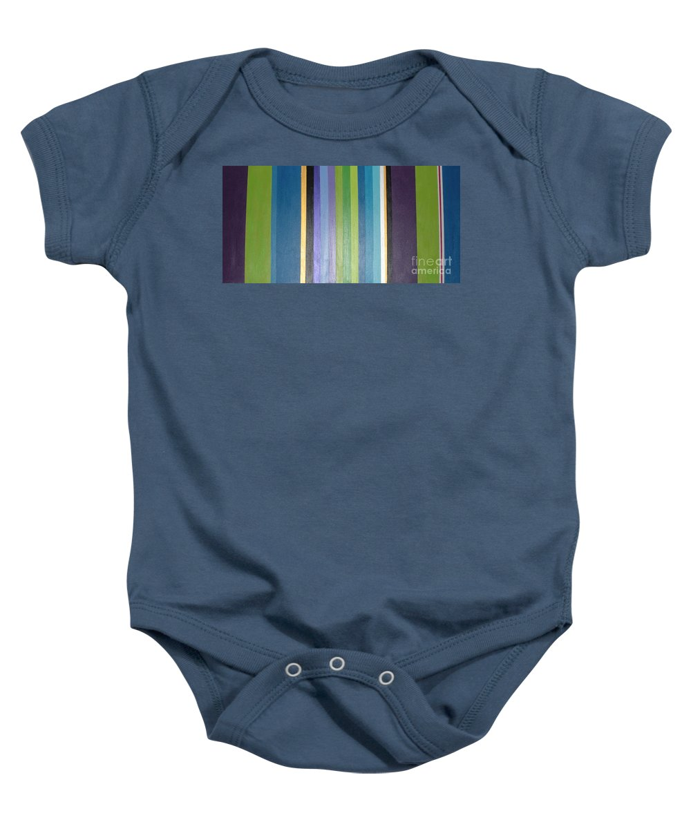 Purple Baby Onesie featuring the painting Linea by Maria Bonnier-Perez