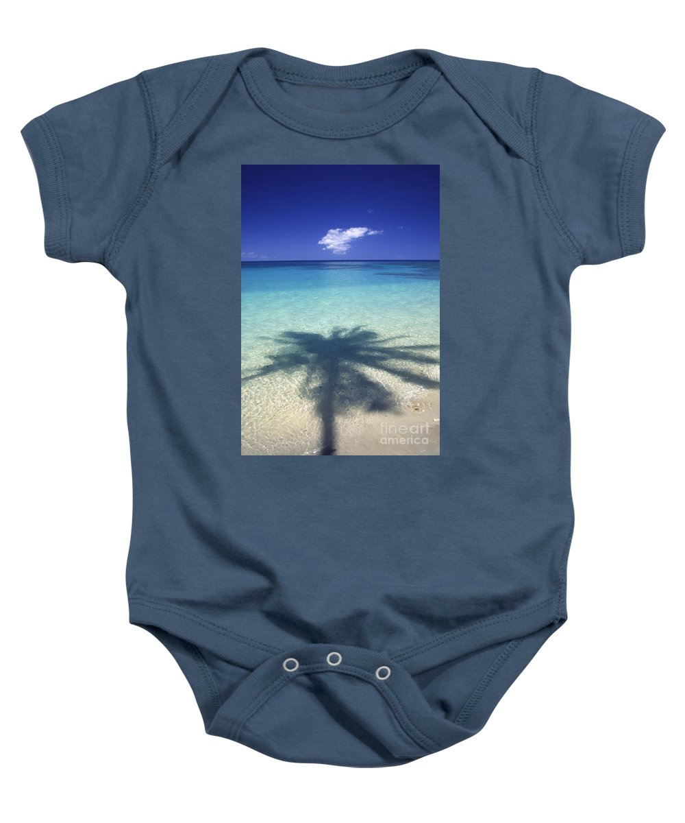 Afternoon Baby Onesie featuring the photograph Palm Shadows by Ron Dahlquist - Printscapes