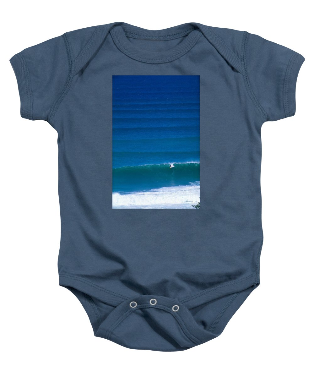 Above Baby Onesie featuring the photograph Rolling Waves by Vince Cavataio - Printscapes