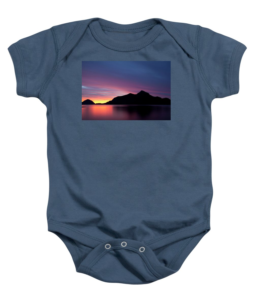 Porteau Baby Onesie featuring the photograph 1.1.11 by Monte Arnold