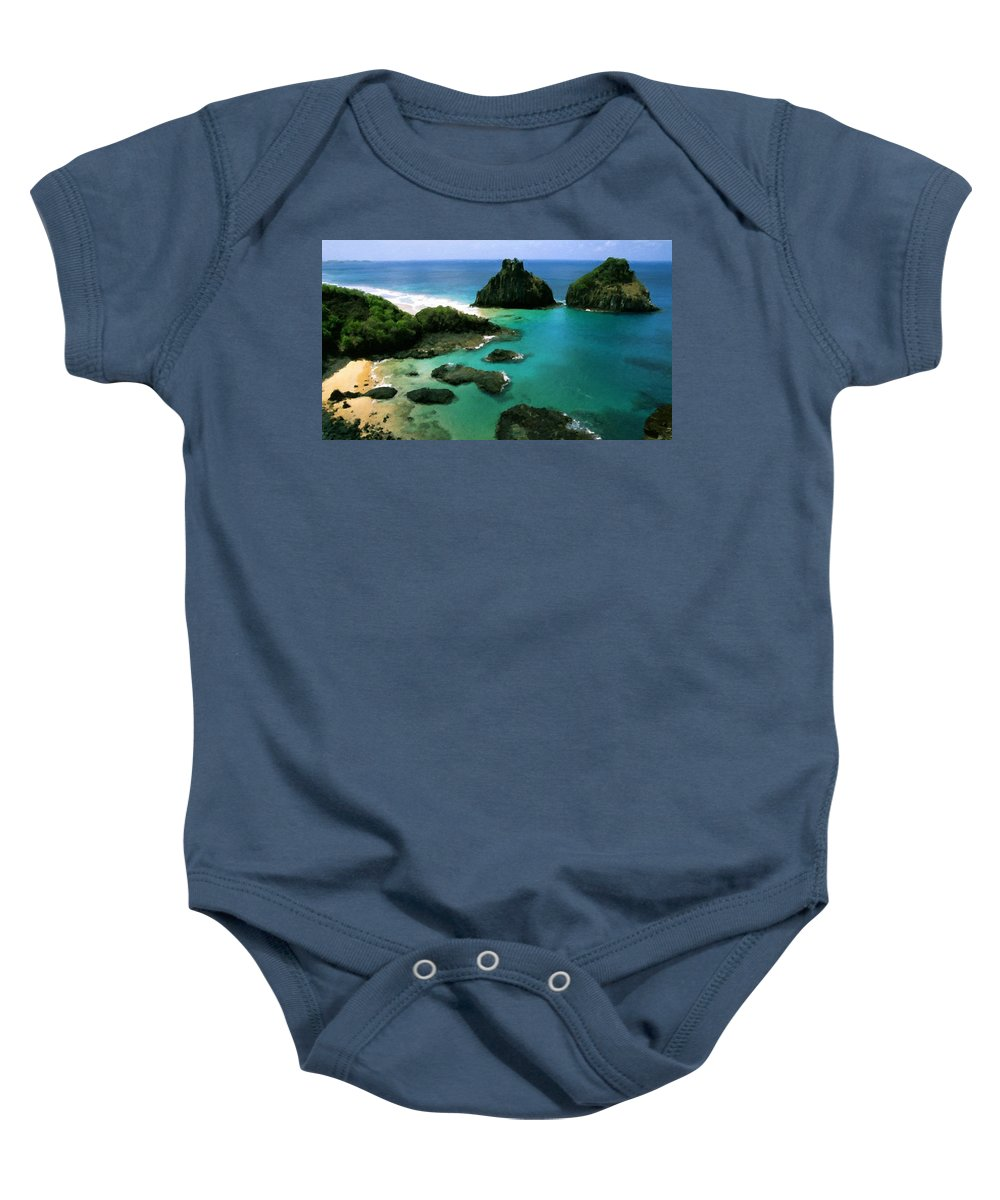 Nature Baby Onesie featuring the digital art Poster Landscape by Usa Map