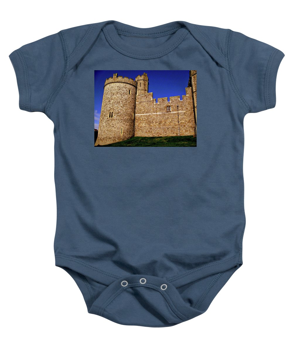 Windsor Castle England United Kingdom Uk Baby Onesie featuring the photograph Windsor Castle England United Kingdom Uk by Paul James Bannerman