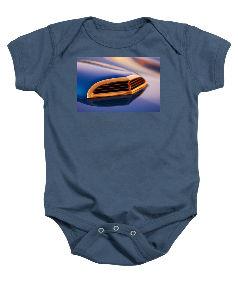 Classic Car Baby Onesie featuring the photograph 1957 Ford Thunderbird Scoop by Jill Reger
