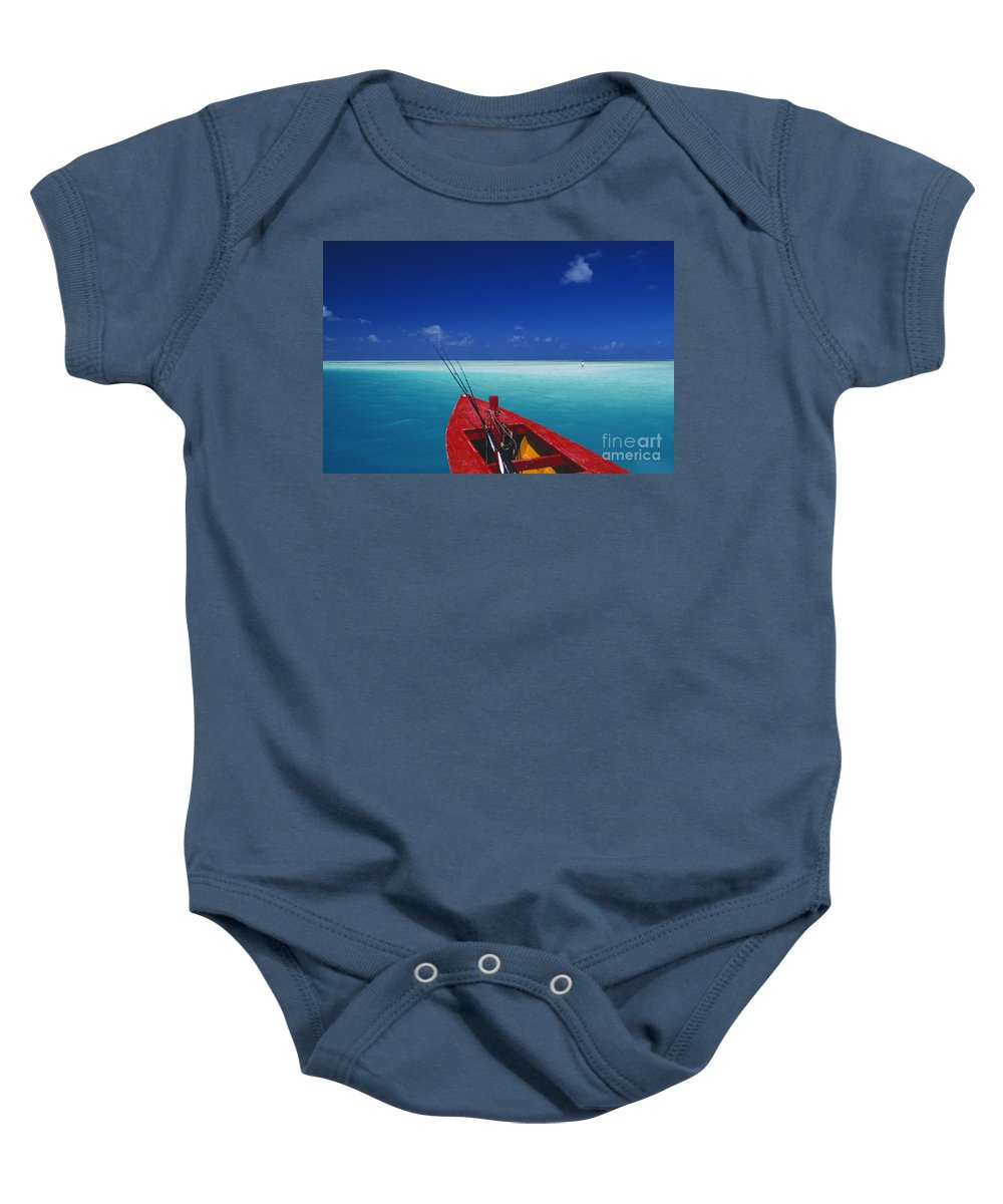 Beach Baby Onesie featuring the photograph Christmas Island, Bone Fi by Ron Dahlquist - Printscapes
