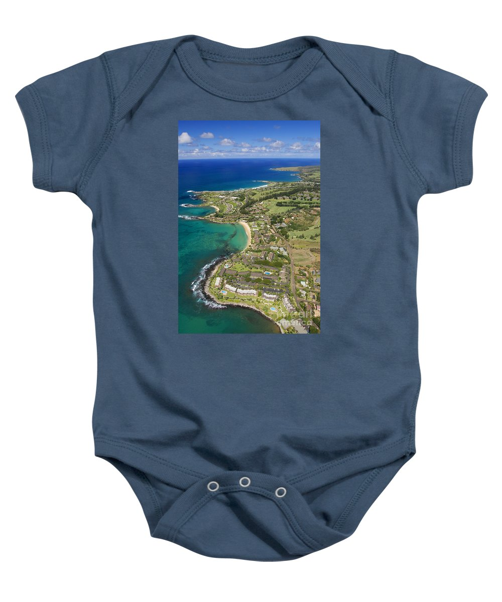 Above Baby Onesie featuring the photograph Maui Aerial Of Kapalua by Ron Dahlquist - Printscapes
