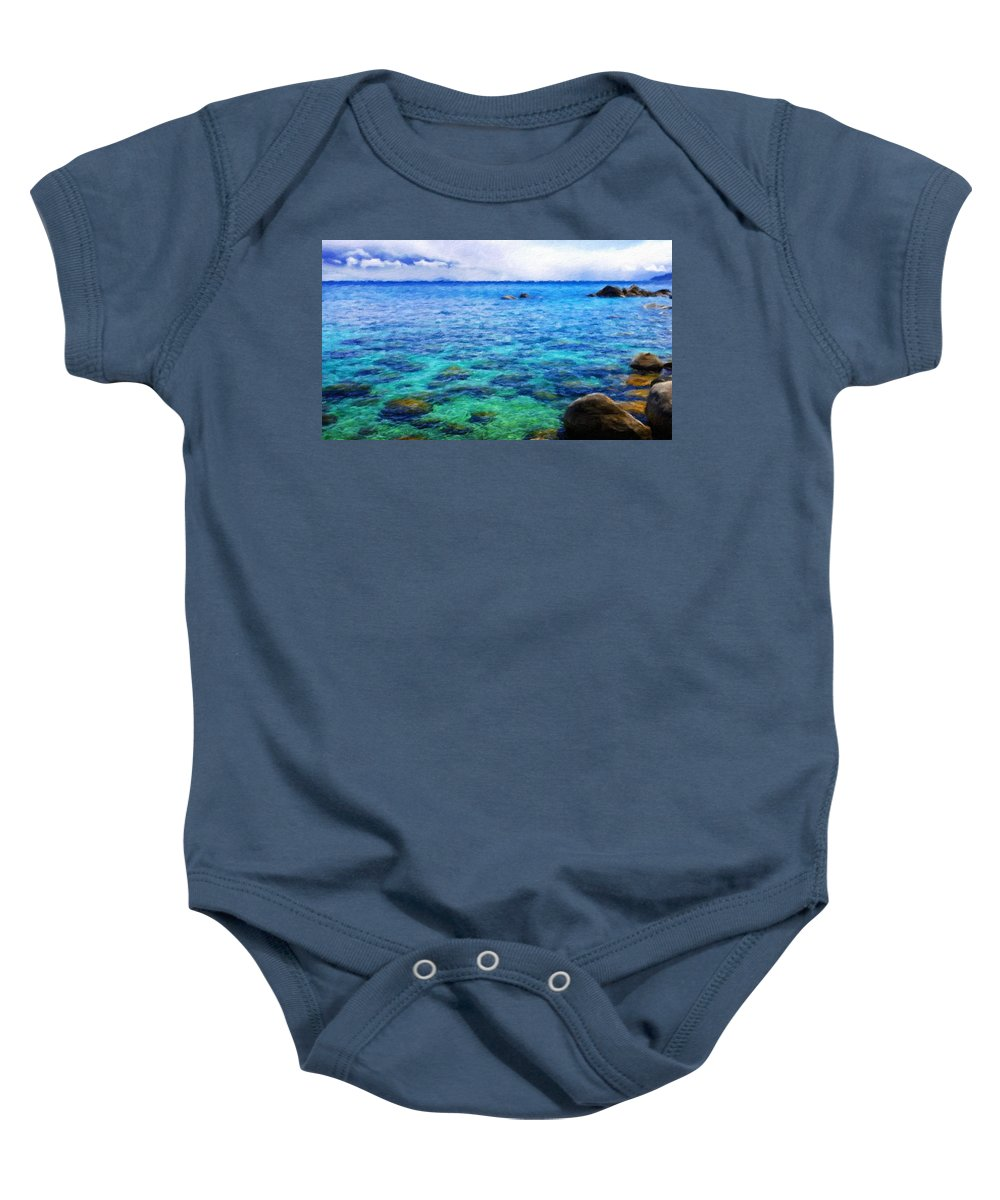 Landscape Baby Onesie featuring the painting Nature Art Original Landscape Paintings by World Map