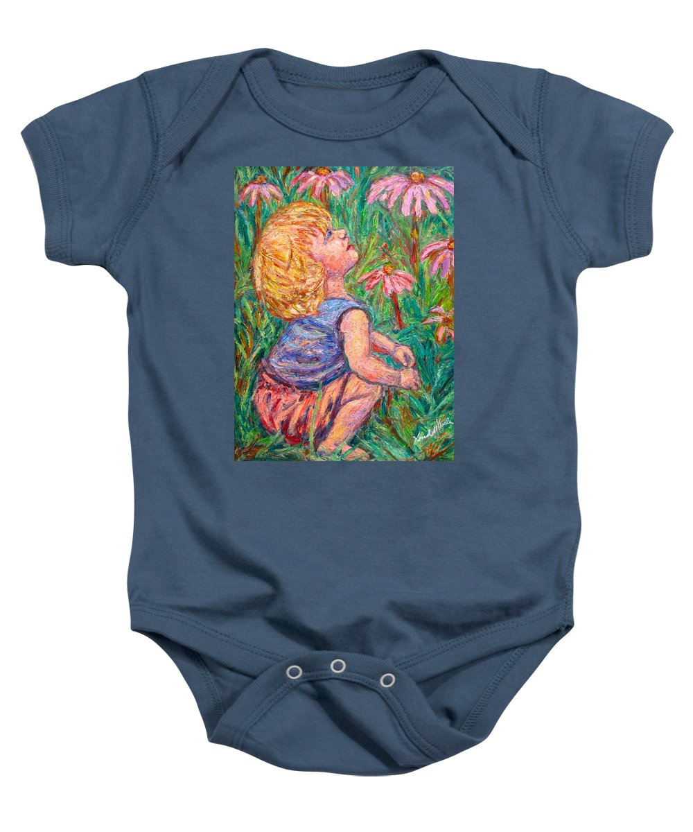 Child Baby Onesie featuring the painting A Beautiful Moment by Kendall Kessler