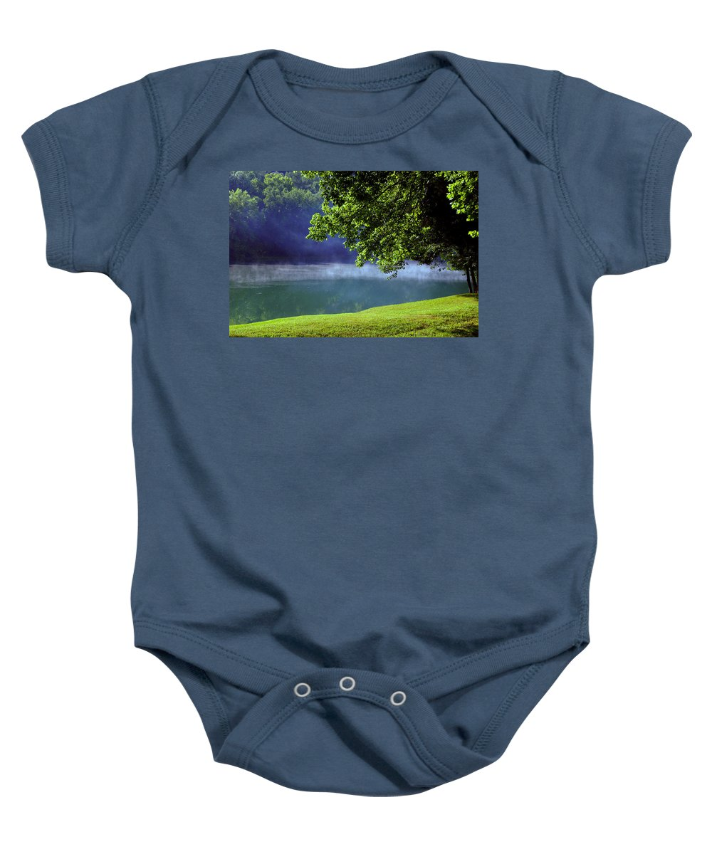Fog Baby Onesie featuring the photograph After A Warm Summer Rain by Susanne Van Hulst