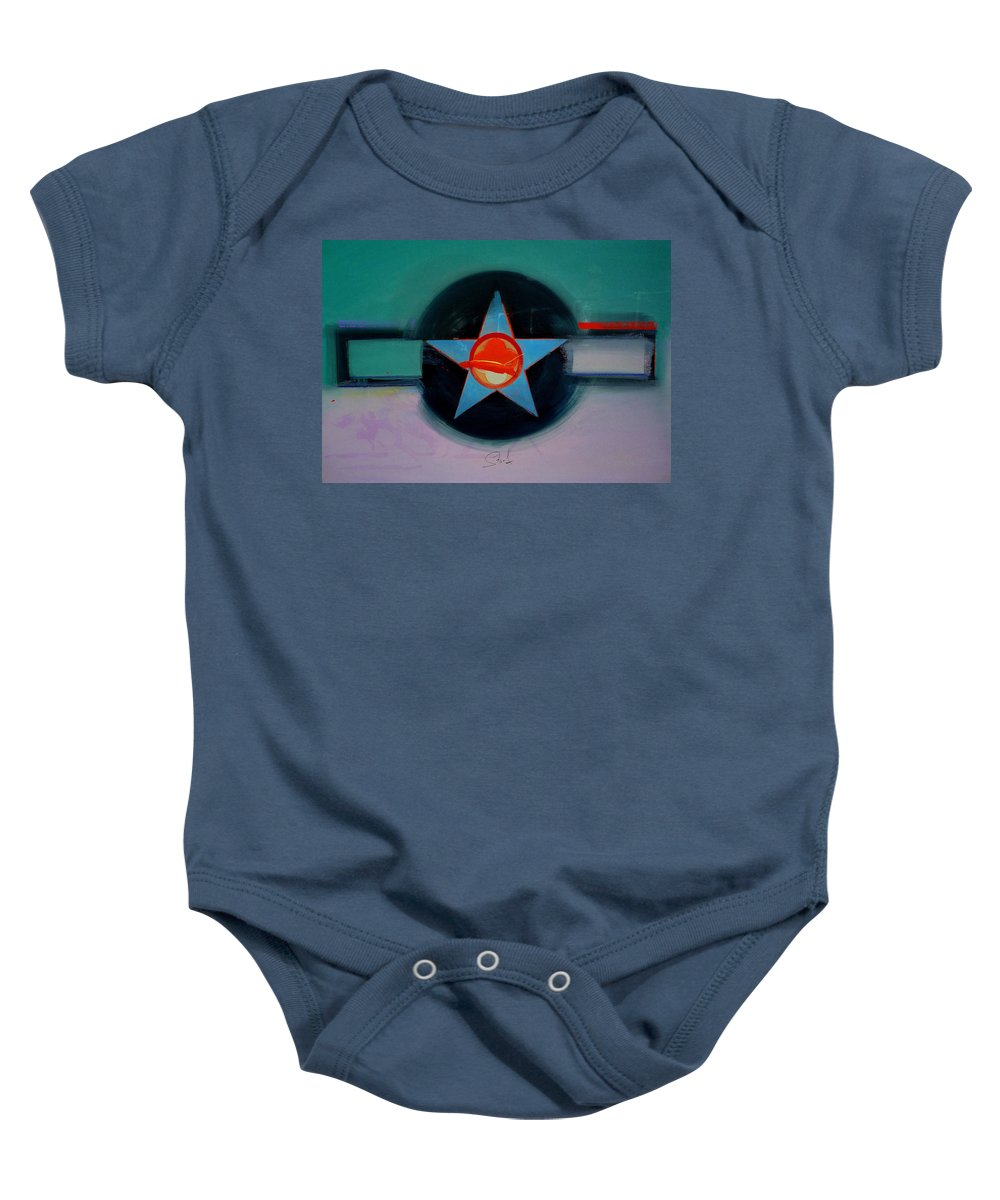 Star Baby Onesie featuring the painting American Landscape by Charles Stuart