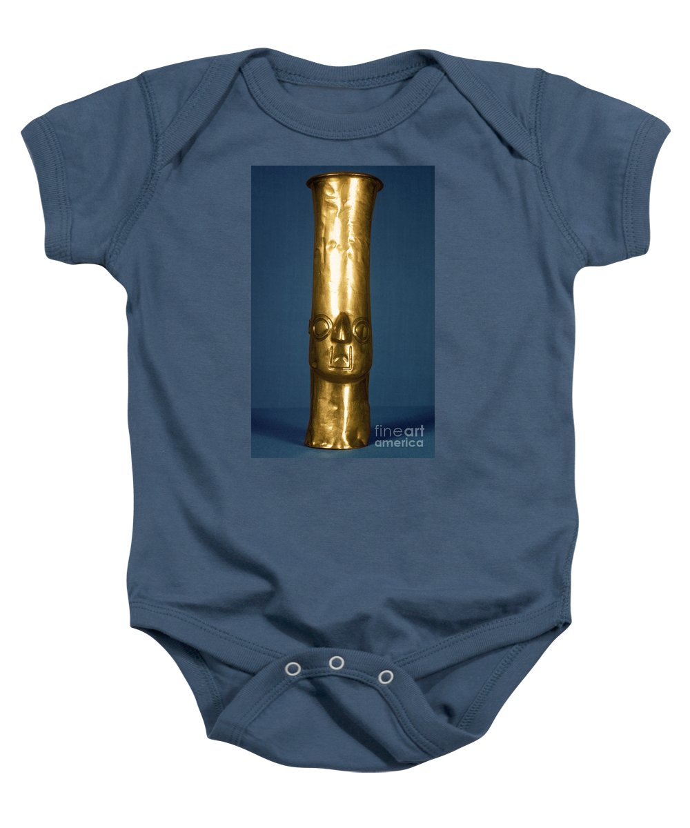 1400 Baby Onesie featuring the photograph Andes: Gold Effigy, 1400 by Granger