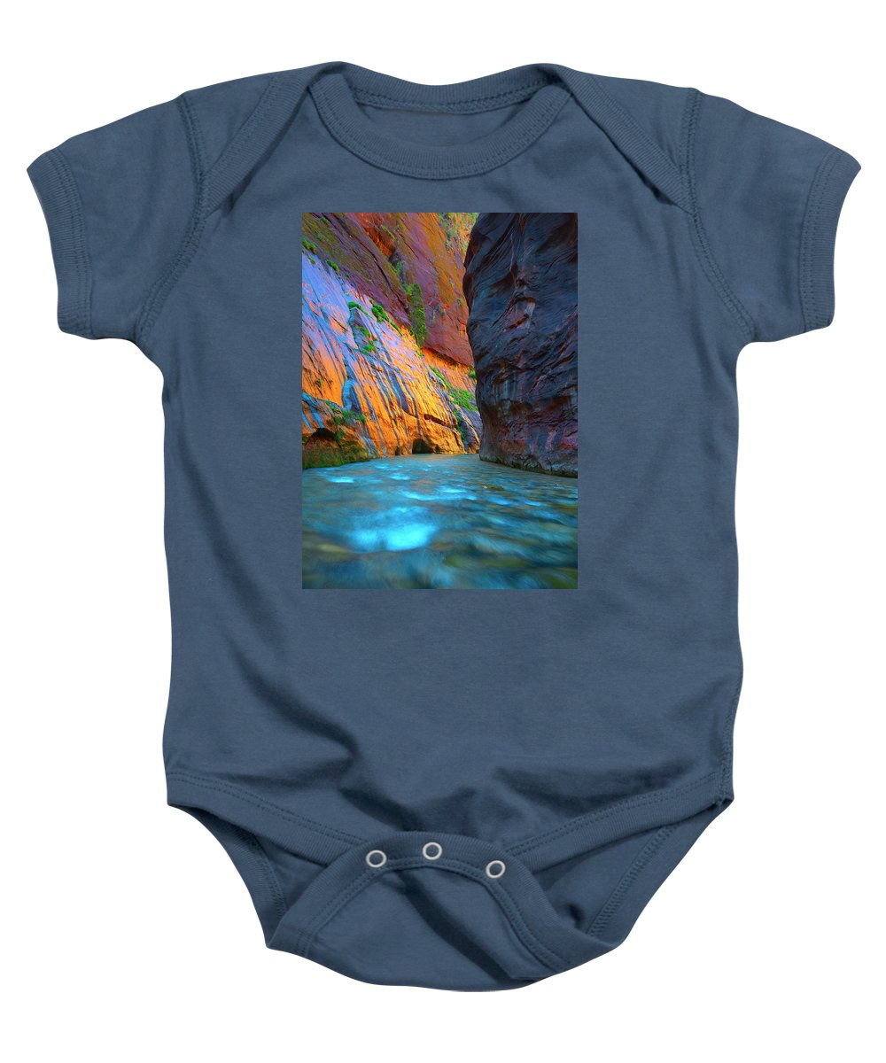 Zion Baby Onesie featuring the photograph Around The Bend by Brian Knott Photography