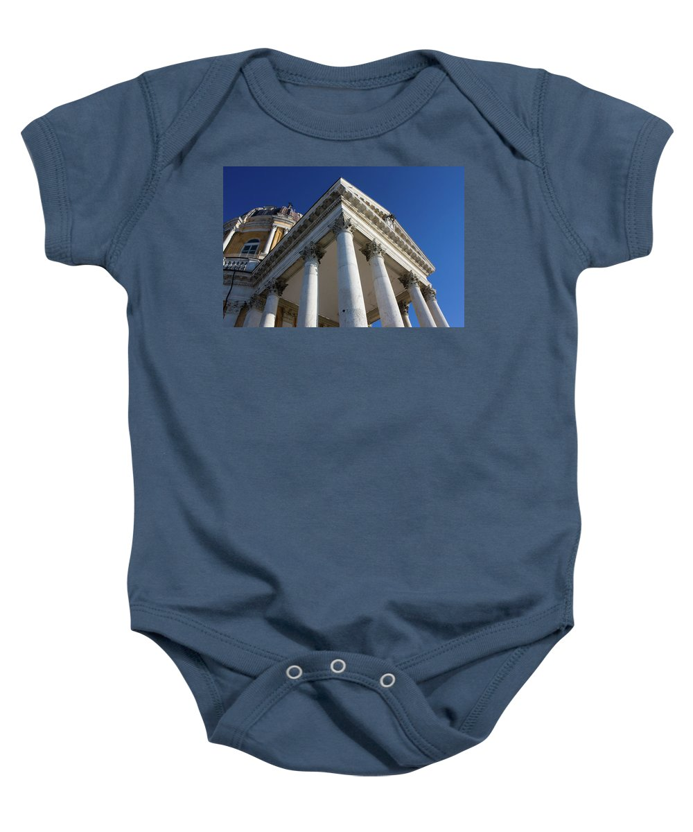 Architecture Baby Onesie featuring the photograph Basilica Superga - Turin, Italy by Paolo Modena