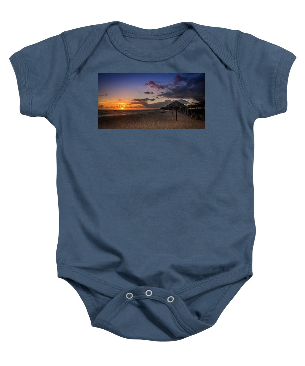 Lanscape Baby Onesie featuring the photograph Beach by Tommy Jaksic