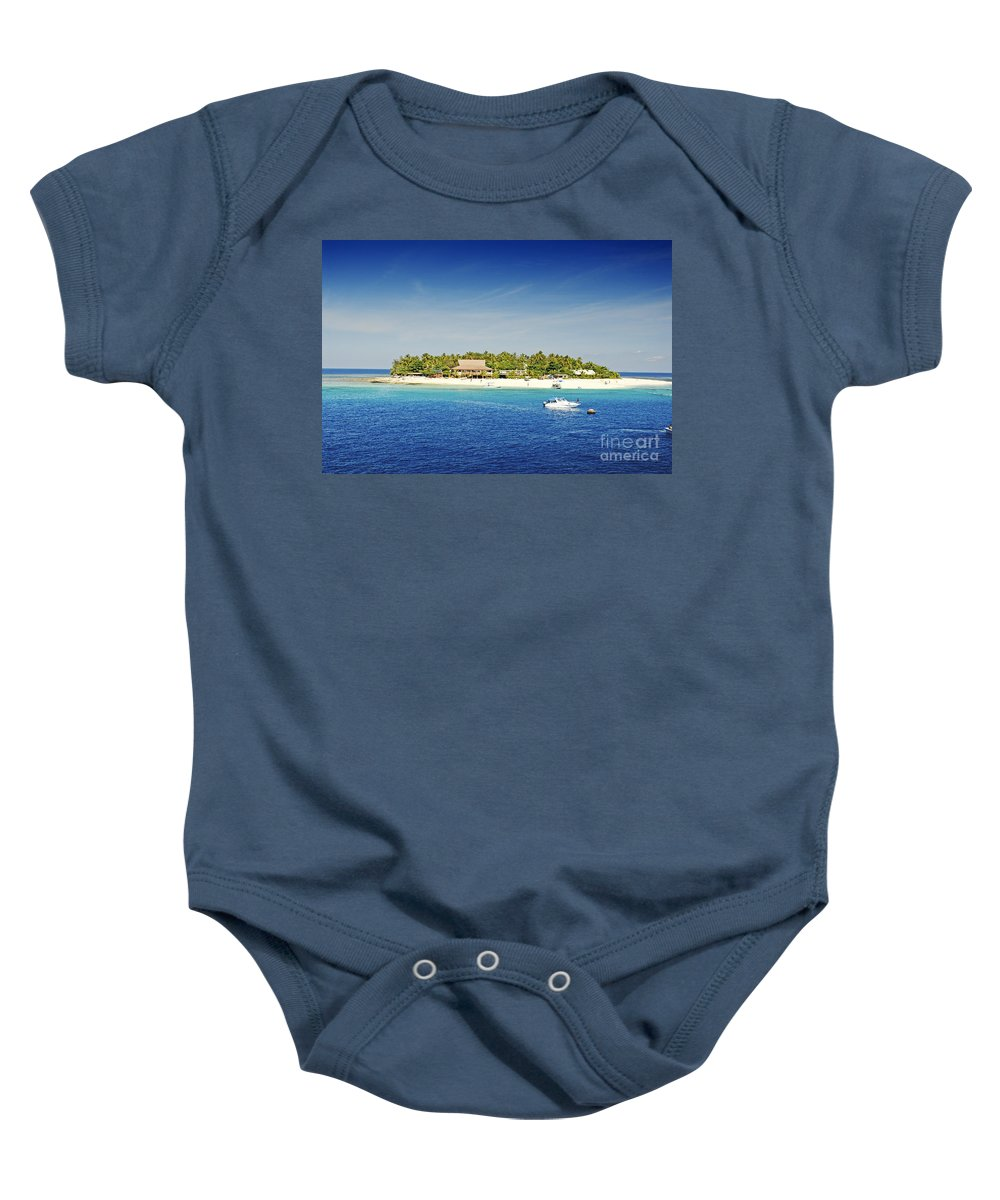 Afternoon Baby Onesie featuring the photograph Beachcomber Island by Himani - Printscapes