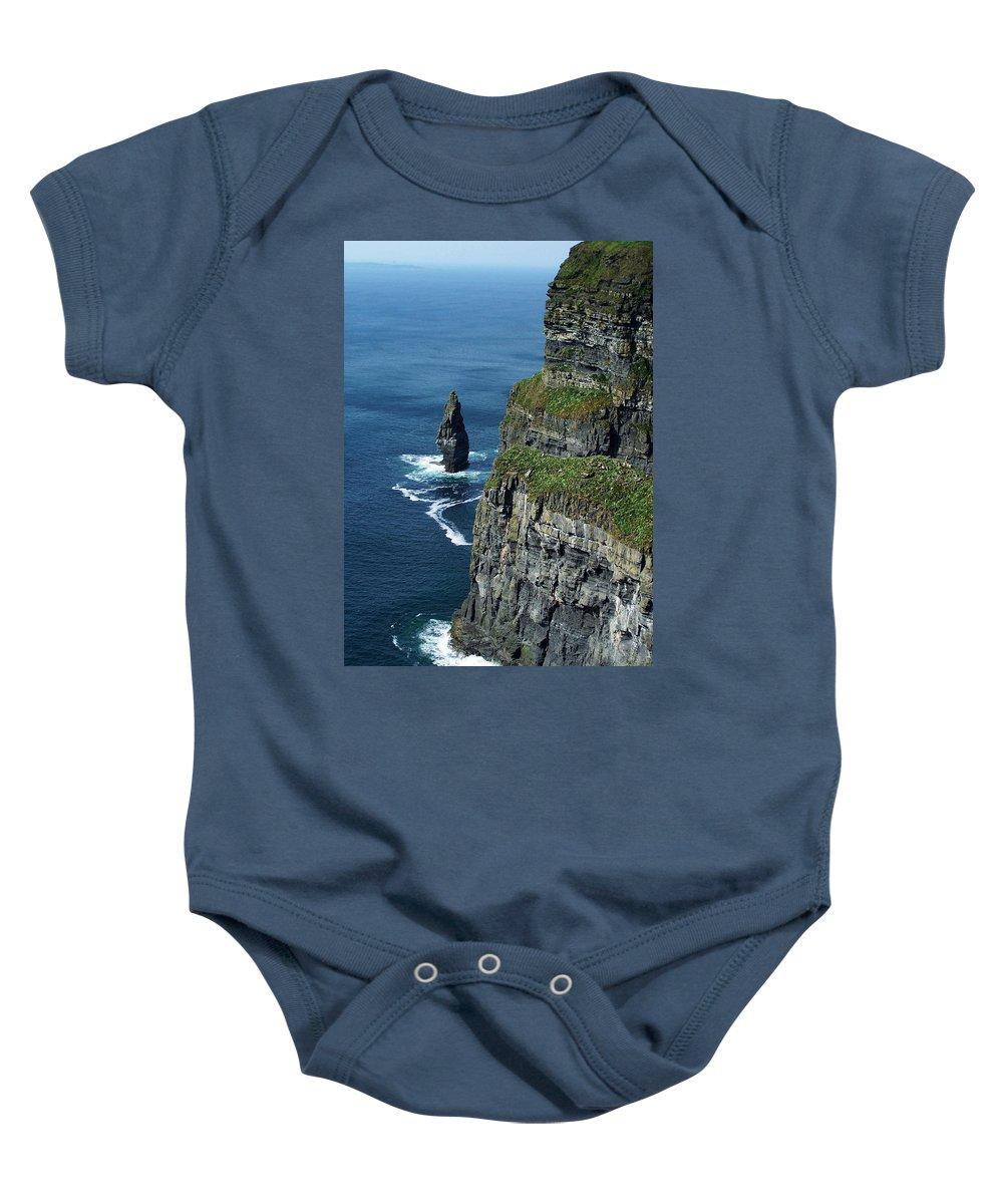 Irish Baby Onesie featuring the photograph Brananmore Cliffs Of Moher Ireland by Teresa Mucha