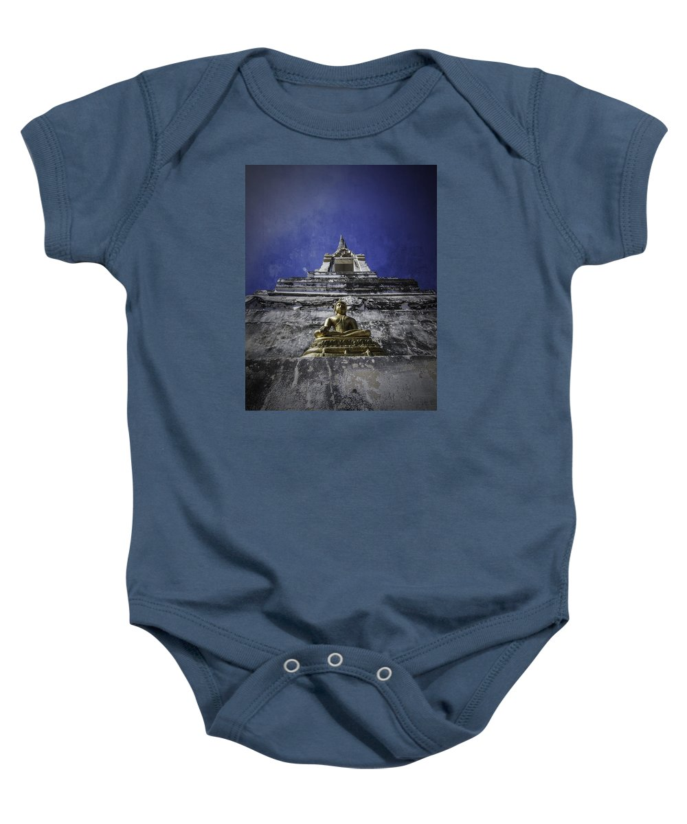 Buddha Baby Onesie featuring the photograph Buddha Watching Over by Dylan Newstead