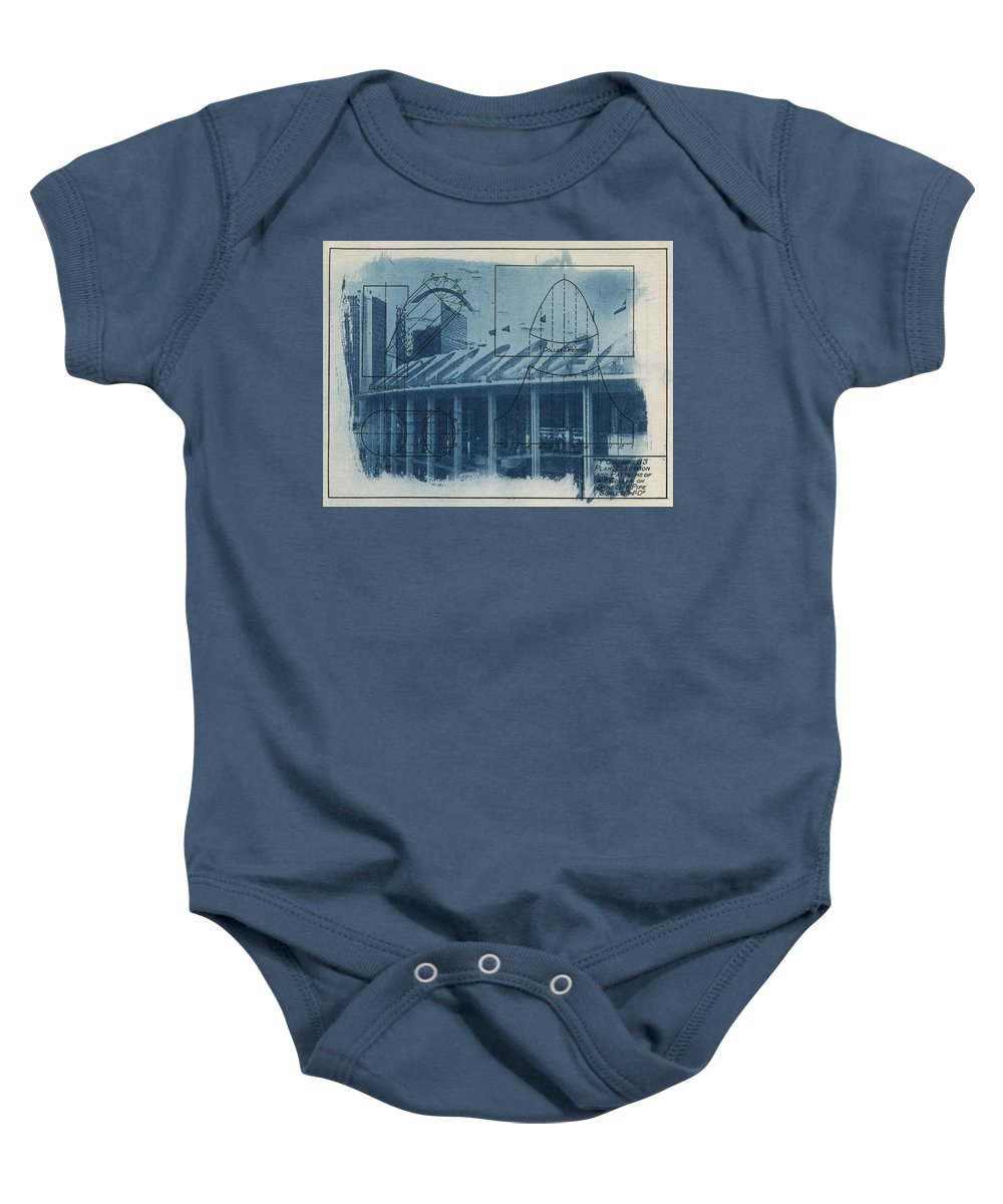 Blue Baby Onesie featuring the photograph Busch Stadium by Jane Linders