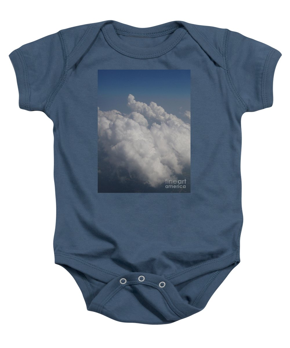 Clouds Baby Onesie featuring the photograph Cloud Depth II by Deborah Crew-Johnson