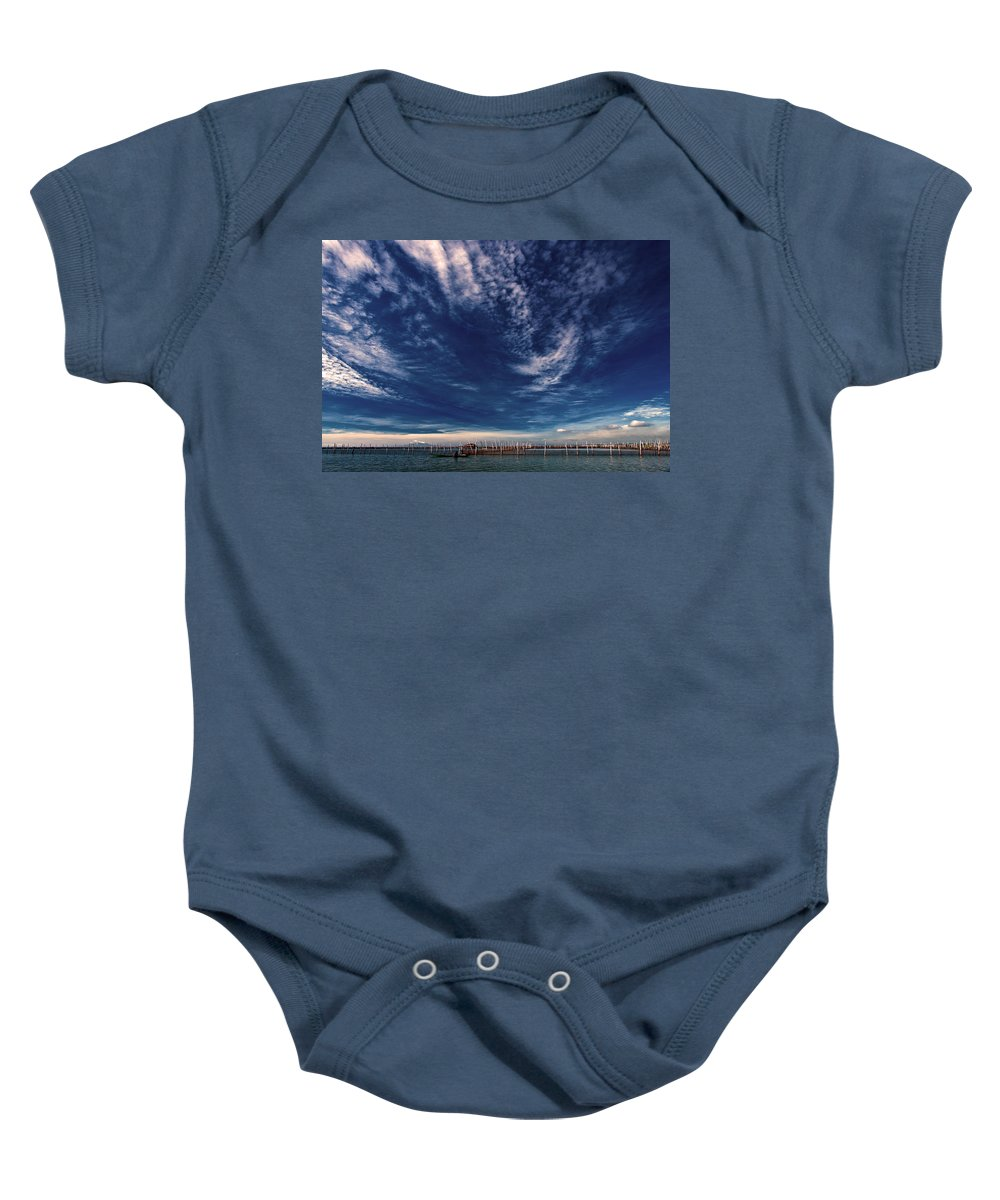 Nature Baby Onesie featuring the photograph Cloud Formation by George Cabig