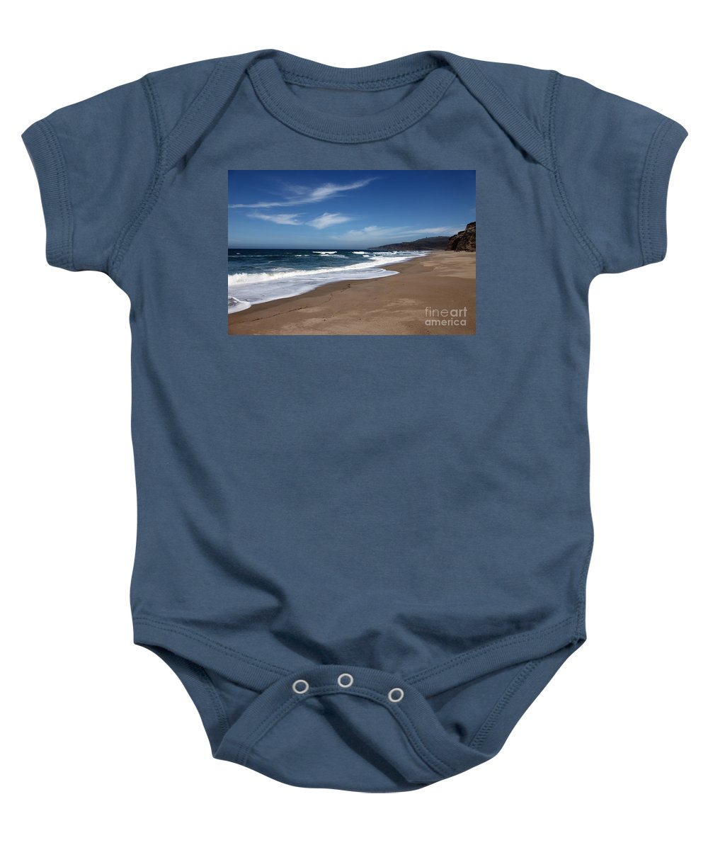 images Of California Baby Onesie featuring the photograph Coast Line by Amanda Barcon