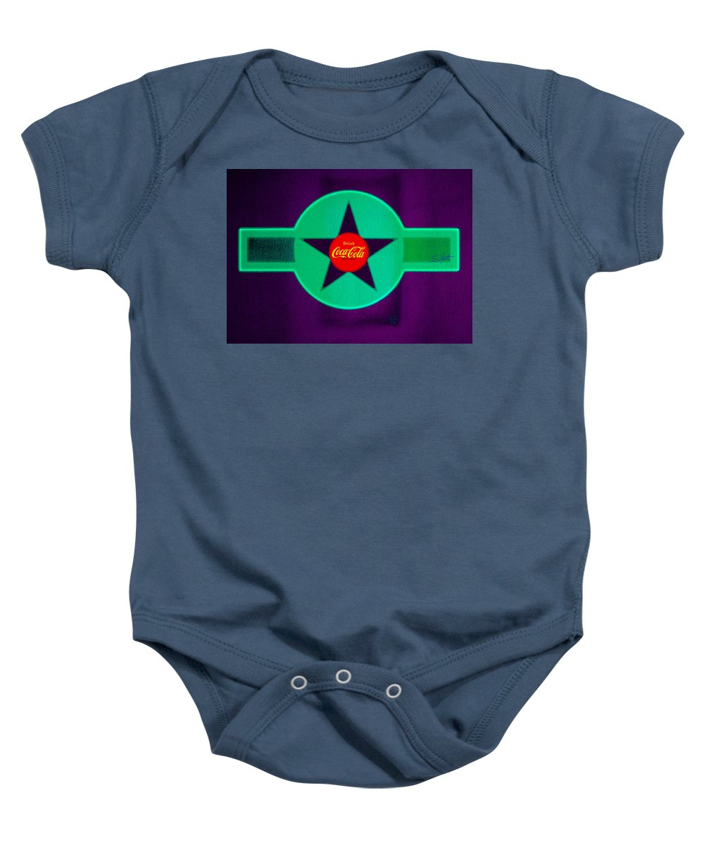 Label Baby Onesie featuring the painting Coke N Lime by Charles Stuart