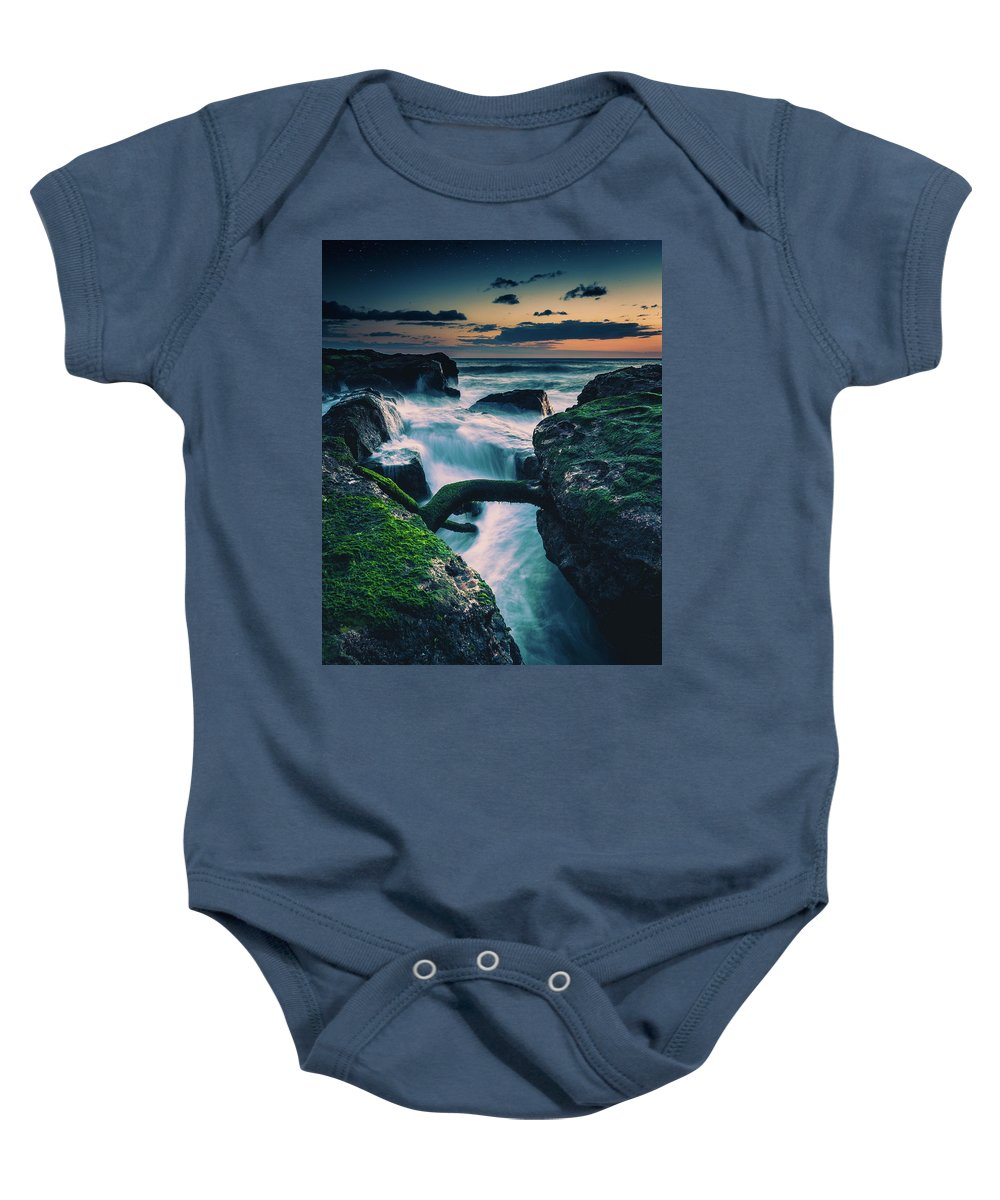 Baby Onesie featuring the photograph Cold Seas by Jack Crosby