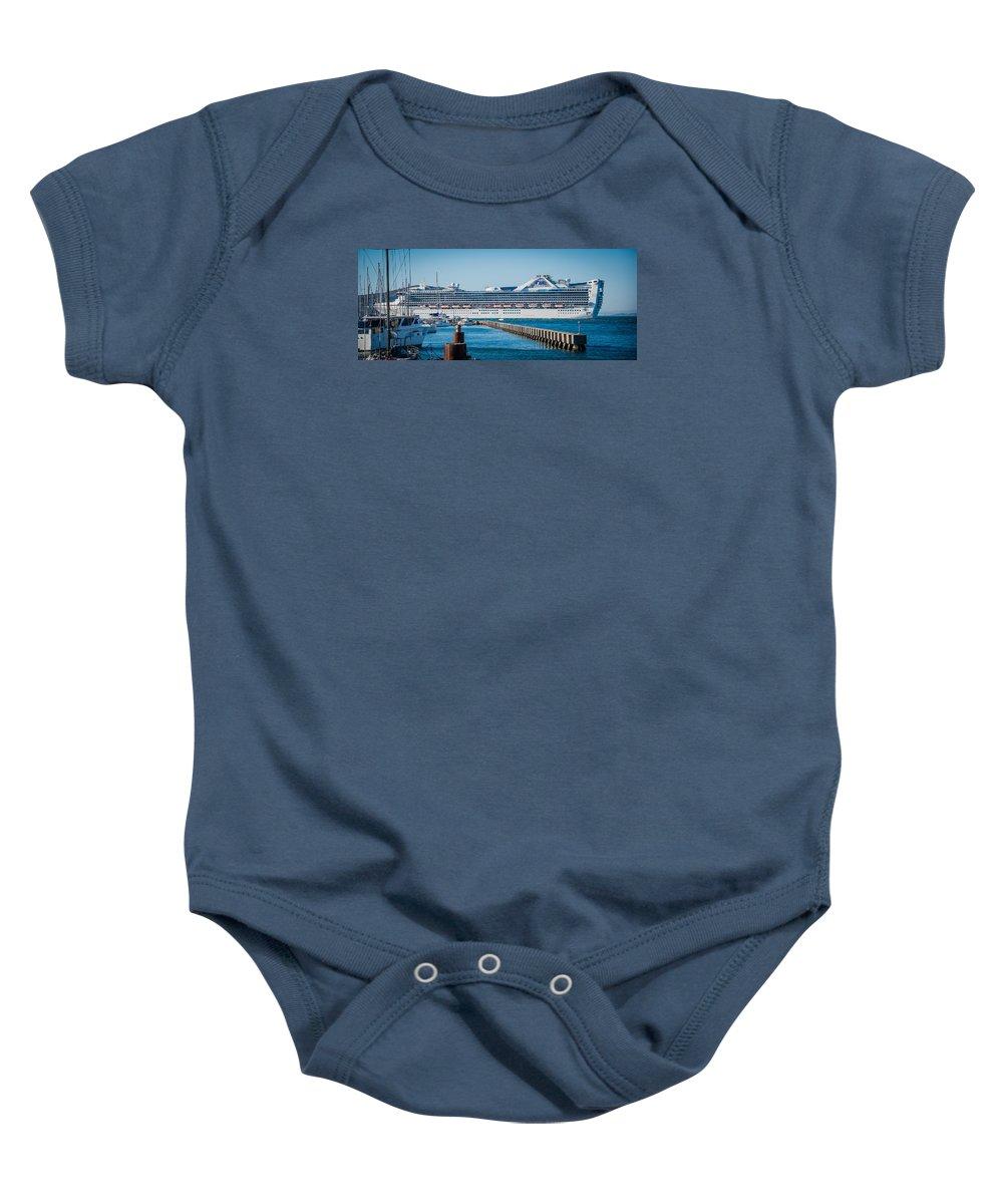 San Francisco Baby Onesie featuring the photograph Cruise Ship by Jayasimha Nuggehalli
