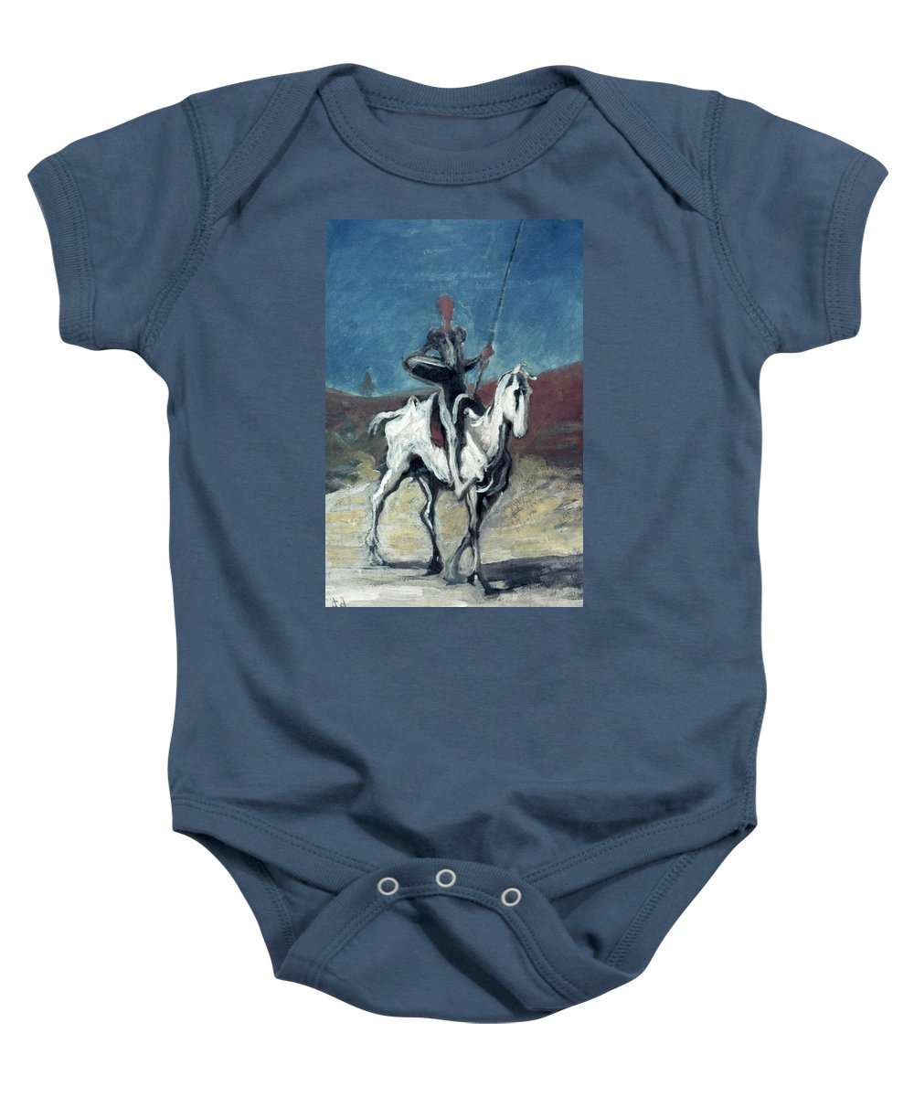 19th Century Baby Onesie featuring the photograph Daumier: Quixote, 19th C by Granger