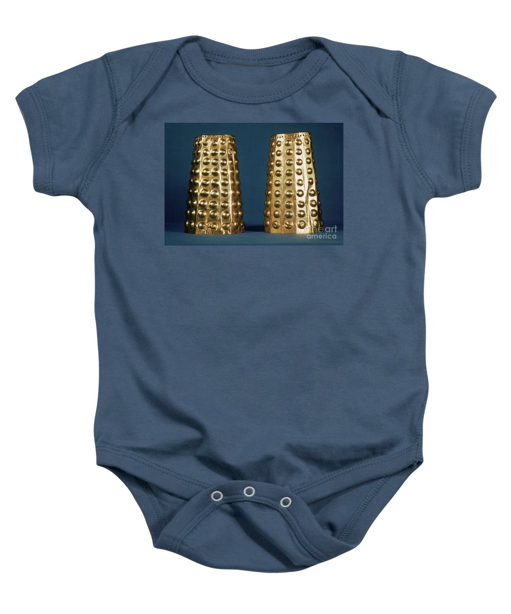 Antique Baby Onesie featuring the photograph Ecuador: Gold Cuffs by Granger