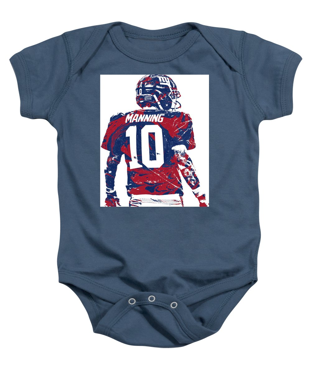3c2004eb Eli Manning New York Giants Pixel Art 30 Baby Onesie