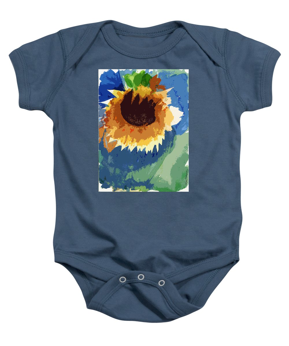 Dying Flower Baby Onesie featuring the painting End Of Life Unaware by Kate Hopson