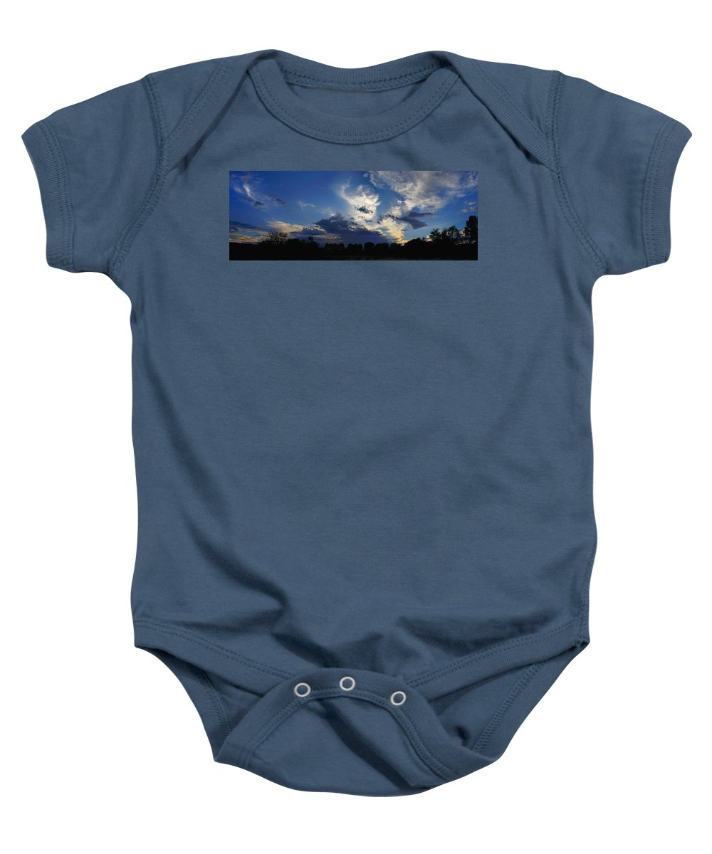 Landscape Baby Onesie featuring the photograph Evening At The Nature Center by Steve Karol